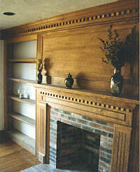 custom home fireplace photo