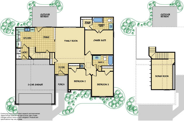 The everest model new home design by jagoe homes for Home builders floor plans