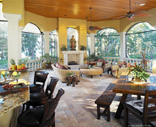 Custom builder photos by jrw construction of central florida for Outdoor living spaces florida