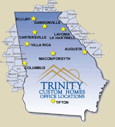 GA map image of Trinity Custom Home offices